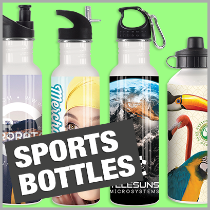 Sports Bottles personalised with print