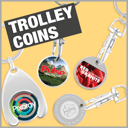 Trolley Coins personalised with print